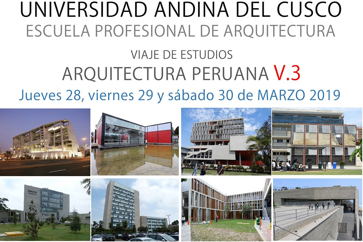 VISITA GUIADA ARQUITECTURA PERUANA – Marzo 2019